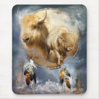 Alfombrilla De Ratón Alcohol del arte blanco Mousepad del búfalo