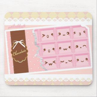 Alfombrilla De Ratón Alfrombrilla de chocolate rosa