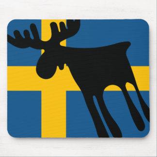 Alfombrilla De Ratón Älg / Moose med Svenska flaggan