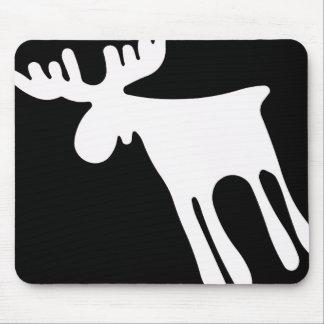 Alfombrilla De Ratón Älg / Moose, vit