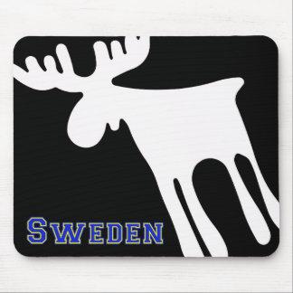 Alfombrilla De Ratón Älg / Moose, vit, Sweden