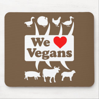 Alfombrilla De Ratón Amamos a los veganos II (blancos)