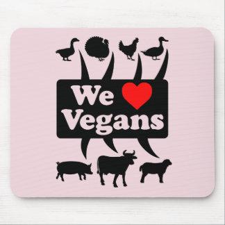 Alfombrilla De Ratón Amamos a veganos II (el negro)