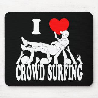 Alfombrilla De Ratón Amo a la muchedumbre que practica surf (el varón)