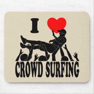 Alfombrilla De Ratón Amo a la muchedumbre que practica surf (varón) (el