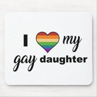 Alfombrilla De Ratón Amo a mi hija gay