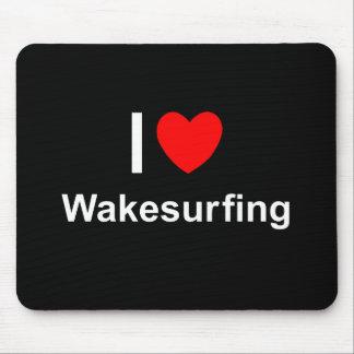 Alfombrilla De Ratón Amo el corazón Wakesurfing