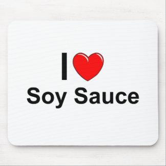 Alfombrilla De Ratón Amo la salsa de soja del corazón