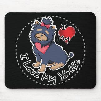 Alfombrilla De Ratón Amo mi perro de Yorkie