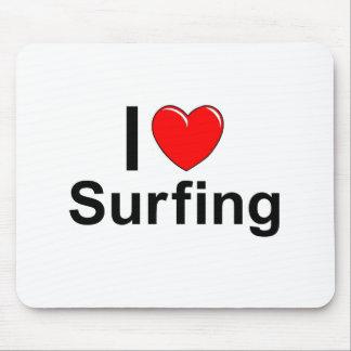 Alfombrilla De Ratón Amo practicar surf del corazón