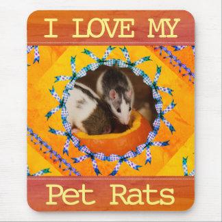 Alfombrilla De Ratón Amor de encargo de la foto I de la rata mis ratas