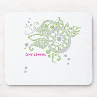 Alfombrilla De Ratón Amor de la flor de la alheña que dibuja siempre