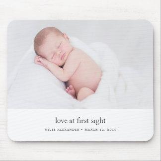 Alfombrilla De Ratón Amor en la primera foto del bebé de la vista