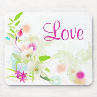Alfombrilla De Ratón Amor floral de los lirios blancos y de las flores