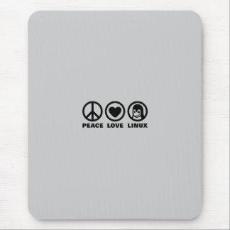 Alfombrilla De Ratón Amor Linux de la paz