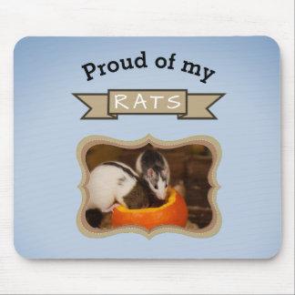 Alfombrilla De Ratón Añada su rata de la foto de las ratas del mascota
