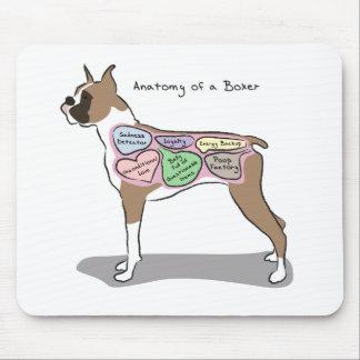 Alfombrilla De Ratón Anatomía de los regalos de un perro del boxeador