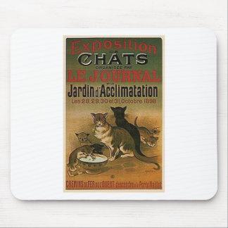 Alfombrilla De Ratón Anuncio francés del vintage - gatos