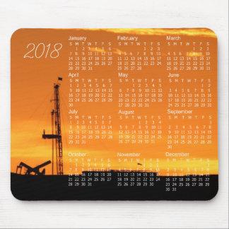 Alfombrilla De Ratón Aparejo de la paliza del aceite en el calendario