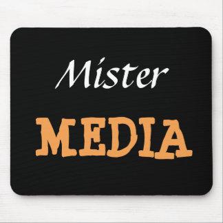 Alfombrilla De Ratón Apodo divertido de Sr. Media Male Journalist