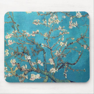 Alfombrilla De Ratón Árbol de almendra floreciente de Van Gogh