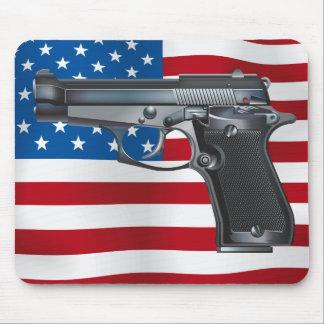 Alfombrilla De Ratón Arma de mano los E.E.U.U.