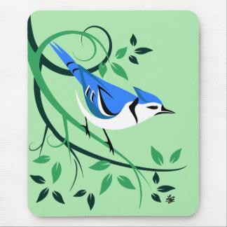 Alfombrilla De Ratón Arrendajo azul decorativo Mousepads
