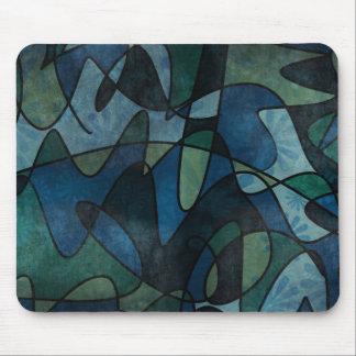Alfombrilla De Ratón Arte abstracto del vitral de Digitaces del trullo