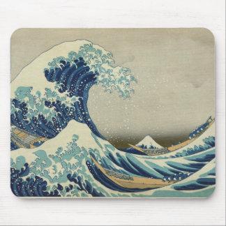 Alfombrilla De Ratón Arte asiático - la gran onda de Kanagawa