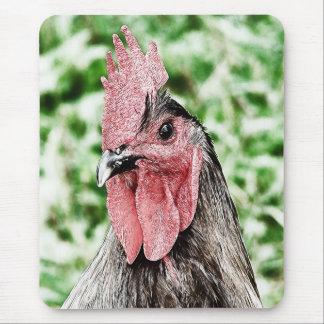 Alfombrilla De Ratón Arte azul de Digitaces del gallo