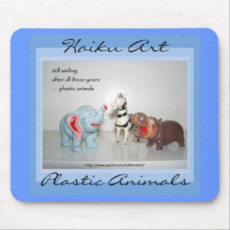 Alfombrilla De Ratón Arte plástico Mousepad del Haiku de los animales