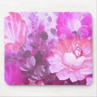 Alfombrilla De Ratón Arte rosado Mousepad de la acuarela del vintage de