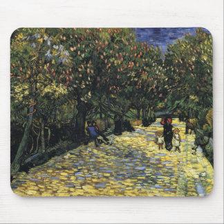 Alfombrilla De Ratón Avenida con los árboles de castaña en Arles - Van
