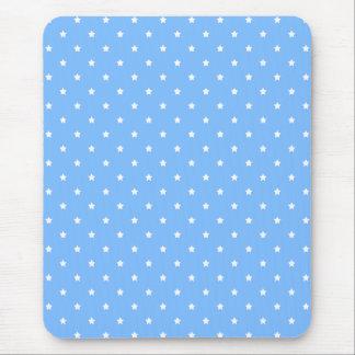 Alfombrilla De Ratón Azul claro y blanco. Modelo de estrella