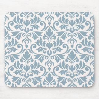 Alfombrilla De Ratón Azul grande del modelo del damasco del Flourish en
