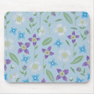 Alfombrilla De Ratón Azules cielos con la costura floral