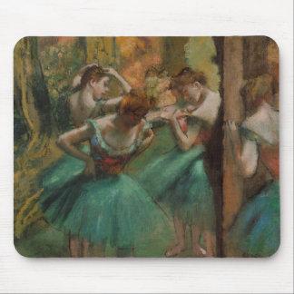 Alfombrilla De Ratón Bailarines de las ilustraciones del ballet rosados