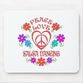 Alfombrilla De Ratón Baile de la salsa del amor de la paz