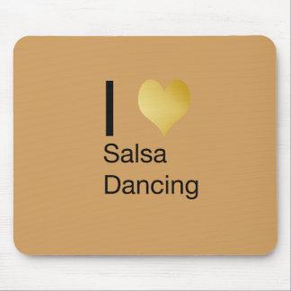 Alfombrilla De Ratón Baile juguetónamente elegante de la salsa del
