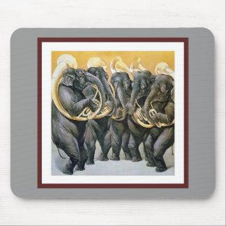 Alfombrilla De Ratón Banda de metales del elefante