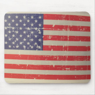 Alfombrilla De Ratón Bandera americana resistida, apenada de los