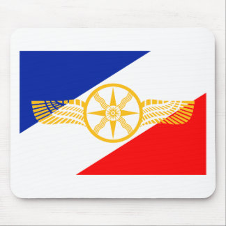 Alfombrilla De Ratón Bandera asiria, bandera caldea, bandera de Syriac