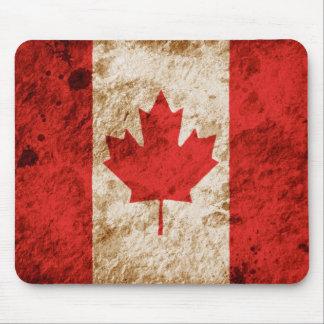 Alfombrilla De Ratón Bandera canadiense rugosa