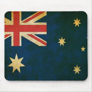 Alfombrilla De Ratón Bandera de Australia del Grunge del vintage