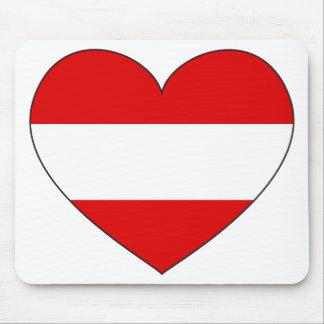 Alfombrilla De Ratón Bandera de Austria simple