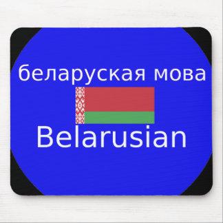Alfombrilla De Ratón Bandera de Bielorrusia y diseño de la lengua