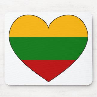 Alfombrilla De Ratón Bandera de Lituania simple