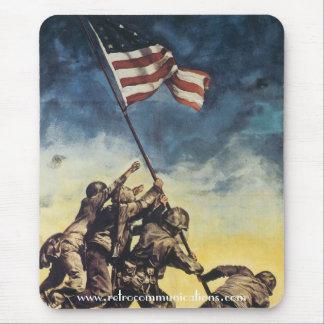 Alfombrilla De Ratón Bandera que aumenta sobre Iwo Jima