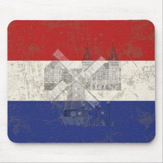 Alfombrilla De Ratón Bandera y símbolos de los Países Bajos ID151