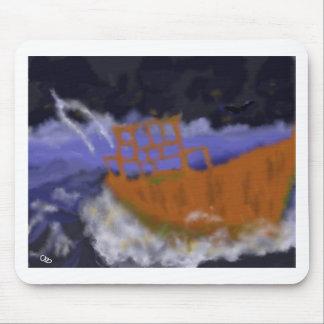 Alfombrilla De Ratón Barco viejo en arte de la tormenta